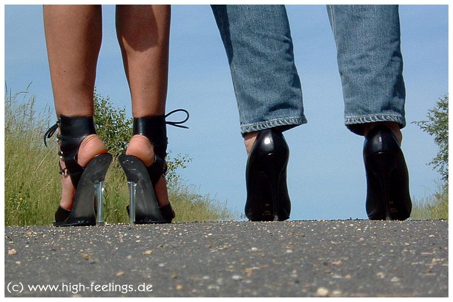 Sandaletten Pumps Leder 13 Cm Absatz
