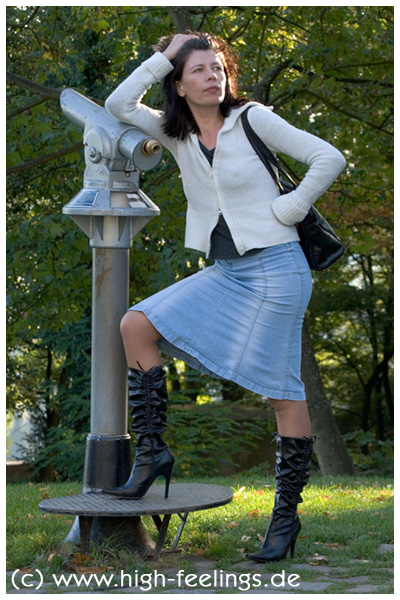 11cm Absatz Stiefel Leder Pu High Heels Pk8wNnO0X
